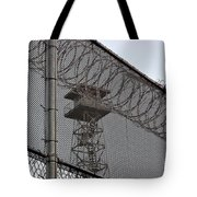 Prison Tower And Fence Tote Bag