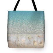 Pristine Beach At Half Moon Cay Tote Bag