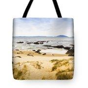 Pristine Beach Background Tote Bag