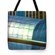 Pritzker Pavilion And Prudential Plaza Dsc2753 Tote Bag