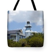 Private Lighthouse On The Indian River Lagoon In  Melbourne Florida Tote Bag
