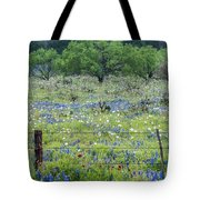 Private Property -wildflowers Of Texas. Tote Bag