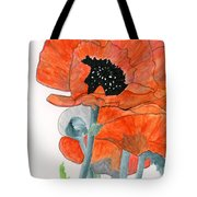 Prize Poppies Tote Bag