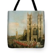 Procession Of The Knights Of The Bath Tote Bag