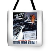 Produce For Your Navy Tote Bag by War Is Hell Store
