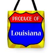 Produce Of Louisiana Shield Tote Bag