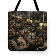 Production Of Tanks Tote Bag