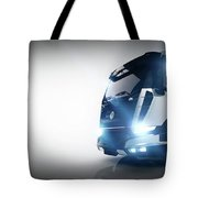 Professional Cargo Delivery Truck With Long Trailer. Banner Tote Bag