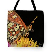 Profile Of A Butterfly Tote Bag