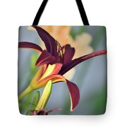 Profile Of A Day Lily Tote Bag