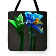Profile Of Glass Flowers Tote Bag
