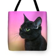 Profile Portrait Of A Black Kitten Tote Bag