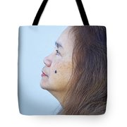 Profile Portrait Of A Lovely Filipina With A Mole On Her Cheek   Tote Bag