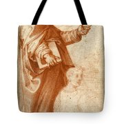 Profile Study Of A Standing Saint Holding A Book With Subsidiary Studies Of Three Additional Figures Tote Bag