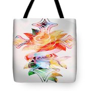 Profound Thought Cross And Roses Tote Bag