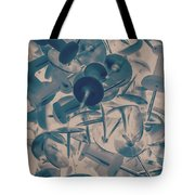 Projected Abstract Blue Thumbtacks Background Tote Bag