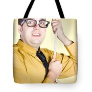 Promoted Employee Climbing Up Corporate Rope Tote Bag