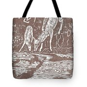 Pronghorns At Waterhole Tote Bag