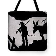 Prospector And Mule  In Metal Tombstone Arizona 2004-2014 Tote Bag