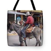 Prospector Re-enactor With Fan Allen Street Tombstone Arizona 200 Tote Bag