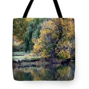 Prosser - Autumn Reflection With Geese Tote Bag