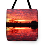 Dramatic Orange Sunset Tote Bag