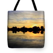 Prosser Sunset - Blue And Gold Tote Bag