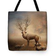 Deer Warm Tone Tote Bag