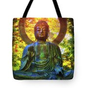 Protection Buddha #2 In Japanese Tea Garden At Golden Gate Park - San Francisco Tote Bag