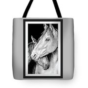 Protection In Black And White Tote Bag