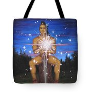 Protector Of The Mystical Forest Tote Bag by Roz Eve
