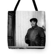 Proud Handsome Man And House Door Tote Bag