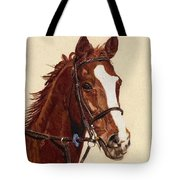 Proud - Portrait Of A Thoroughbred Horse Tote Bag