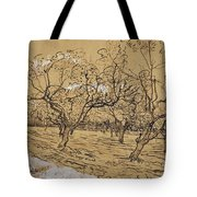 Provencal Orchard Arles  March - April 1888 Vincent Van Gogh 1853  1890 Tote Bag