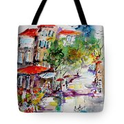 Provence Flower Market Summer Rain Tote Bag by Ginette Callaway