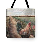 Provence Roosters Tote Bag