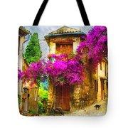Provence Street Tote Bag