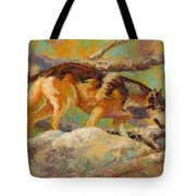 Prowler - Grey Wolf Tote Bag
