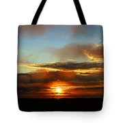 Prudhoe Bay Sunset Tote Bag