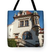 Pruhonice Castle Side View Tote Bag