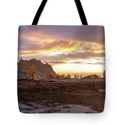 Prusik Peak Golden Cloudscape Tote Bag