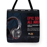 ps4 headset Houston Tote Bag