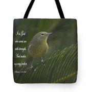 Psalm 18 V 32 Tote Bag