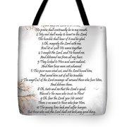 Psalm 34 Pg 2 Tote Bag