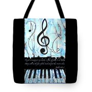 Psalm 40/3 Blue Tote Bag
