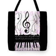 Psalm 40/3 Purple Tote Bag