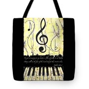 Psalm 40/3 Yellow Tote Bag