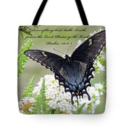 Psalm Scripture - Swallowtail Tote Bag