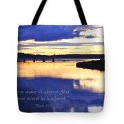 Psalm Reflected At Acadia National Park Two Tote Bag