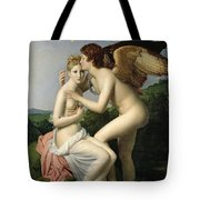 Psyche Receiving The First Kiss Of Cupid Tote Bag by Gerard